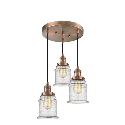 Donson 3-Light Cluster Pendant Finish: Antique Copper