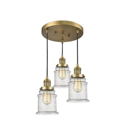 Greeley 3-Light Cluster Pendant Finish: Brushed Brass