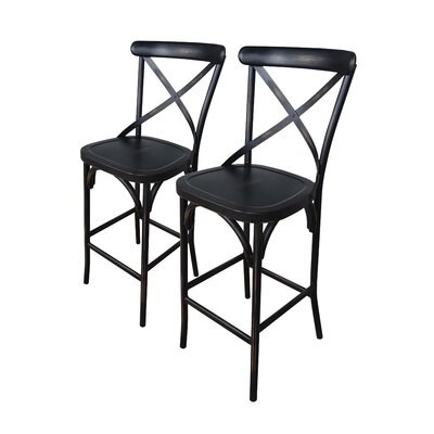 Plyler 30 Bar Stool Color: Antique Black