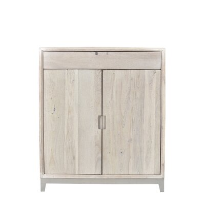 Loyd Bar Cabinet Finish: Sandblast White