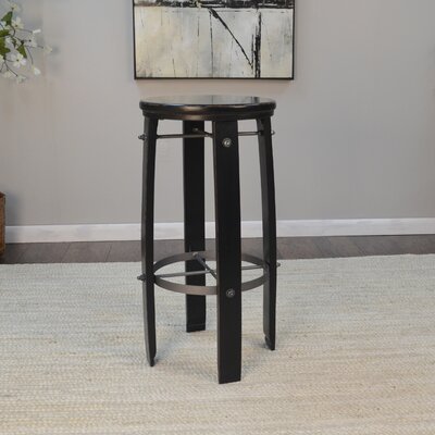 Mountainside 30 Bar Stool Finish: Black