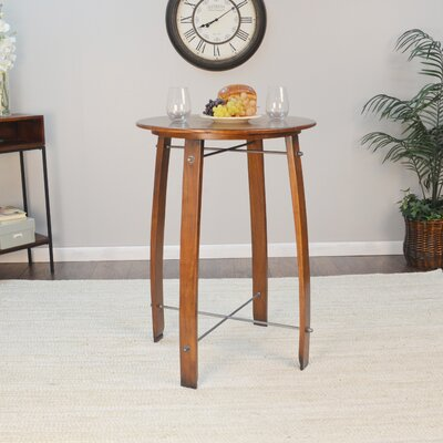 Mountainside 26 Round Pub Table Finish: Chestnut