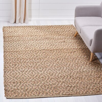 Munhall Fiber Hand-Woven Natural/Brown Area Rug Rug Size: Rectangle 5 x 8