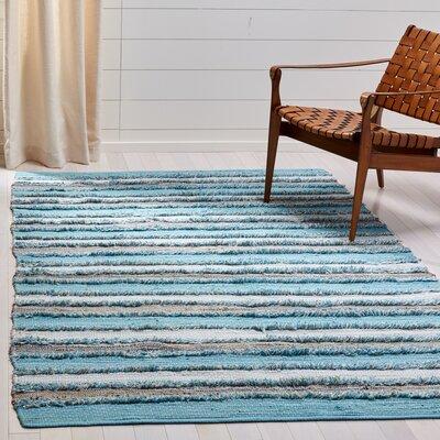 Monaca Hand-Woven Aqua/Gray Area Rug Rug Size: Rectangle 5 x 8