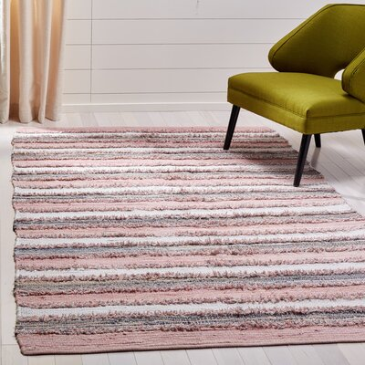 Monaca Hand-Woven Pink/Gray Area Rug Rug Size: Rectangle 3 x 5