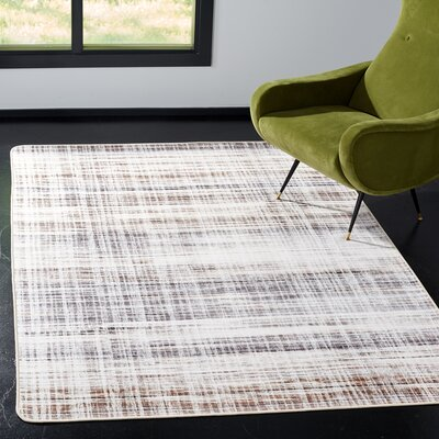 Lokendra Gray Area Rug Rug Size: Rectangle 51 x 76
