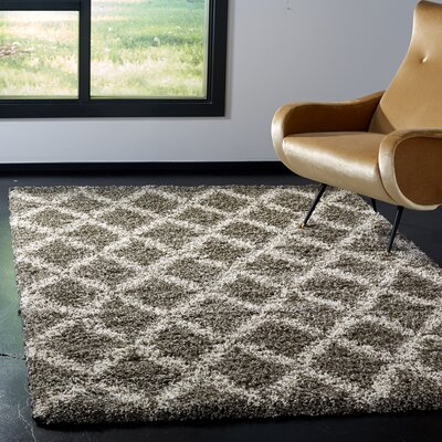 Quito Gray/Ivory Area Rug Rug Size: Rectangle 8 x 10