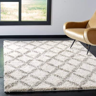 Quito Ivory/Gray Area Rug Rug Size: Rectangle 8 x 10