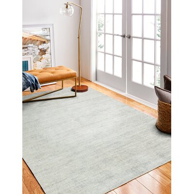Severo Hand-Woven Silver Area Rug Rug Size: Rectangle 86 x 116