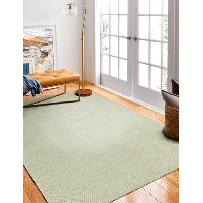 Kane Handmade Cotton Gray Area Rug Rug Size: Rectangle 9 x 12