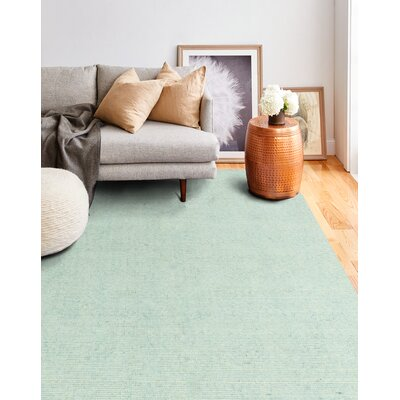 Severo Hand-Loomed Aqua Area Rug Rug Size: Rectangle 36 x 56