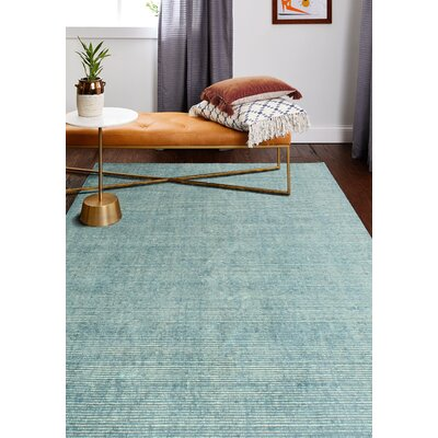 Severo Hand-Loomed Azure Area Rug Rug Size: Rectangle 76 x 96