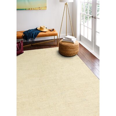 Severo Hand-Loomed Beige Area Rug Rug Size: Rectangle 86 x 116