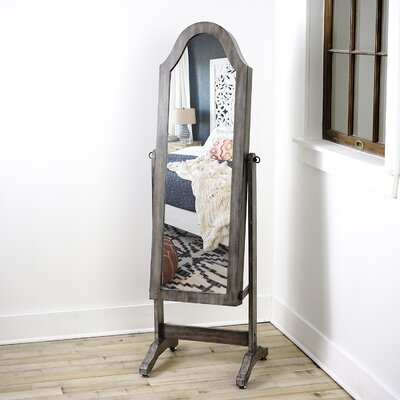 Manzanares Bell Shape Free Standing Jewelry Armoire with Mirror