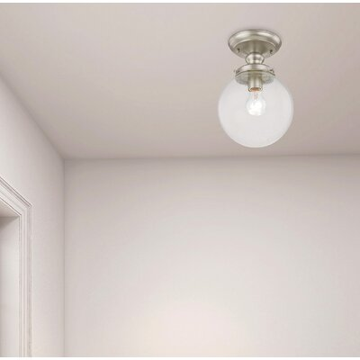 Avalon 1-Light Semi Flush Mount Finish: Brushed Nickel