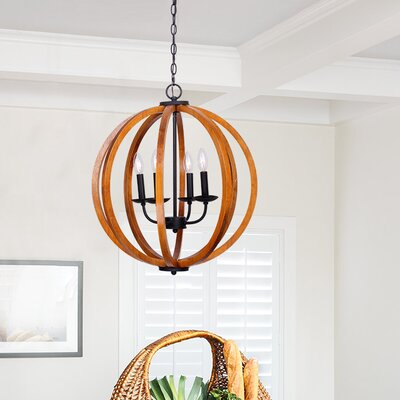 Landrum 4-Light Globe Pendant Finish: Distressed Fenceboard