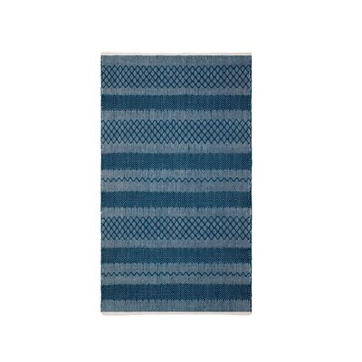 Marciano Hand-Woven Teal Indoor/Outdoor Area Rug Rug Size: Rectangle 3 x 5