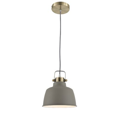 Dunstaffnage 1-Light Inverted Pendant Shade Color: Gray
