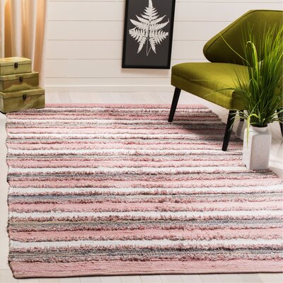 Monaca Hand-Woven Pink/Gray Area Rug Rug Size: Rectangle 5 x 8