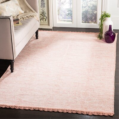 Mohnton Hand-Woven Peach/Gray Area Rug Rug Size: Rectangle 8 x 10