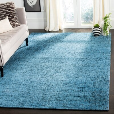Diara Hand-Tufted Wool Blue Area Rug Rug Size: Rectangle 8 x 10