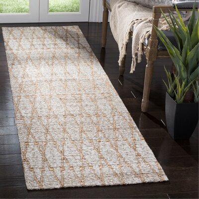 Min Hand Woven Gray Area Rug Rug Size: Runner 23 x 8