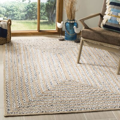 Diara Natural Fiber Hand-Woven Natural Area Rug Rug Size: Rectangle 5 x 8