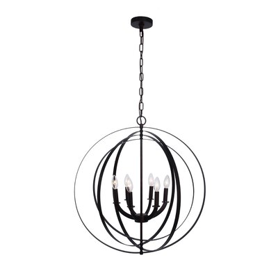 Lanza 6-Light Globe Pendant Finish: Antique Bronze