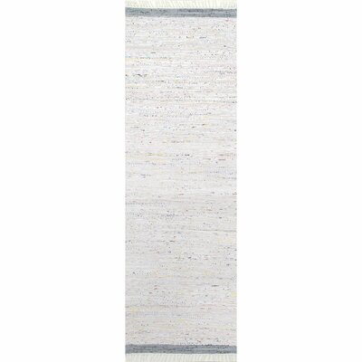 Linzy Cotton Gray Area Rug Rug Size: Runner 26 x 8