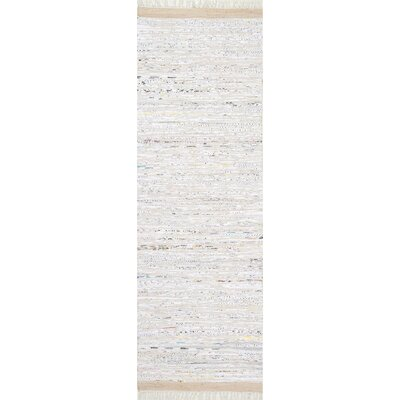 Linzy Flat Woven Cotton Gray Area Rug Rug Size: Runner 26 x 8