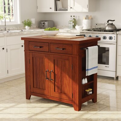 Louison Kitchen Island Base Finish: Vintage Oak