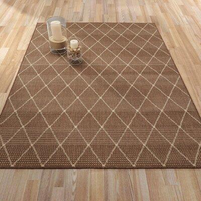 Goodhue Contemporary Trellis Design Brown Outdoor/Indoor Area Rug Rug Size: 53 x 73