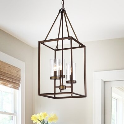 Wendler Cage 3-Light Foyer Pendant