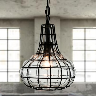 Wendland Metal Cage 1-Light Mini Pendant
