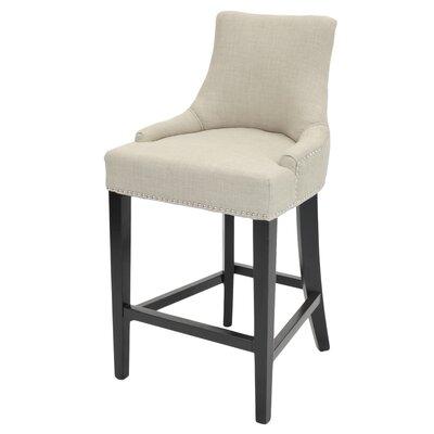 Minisink 26 Bar Stool Upholstery: Linen