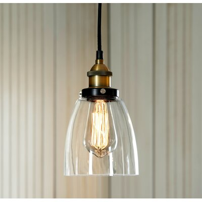 Maxim Glass 1-Light Mini Pendant Finish: Gold