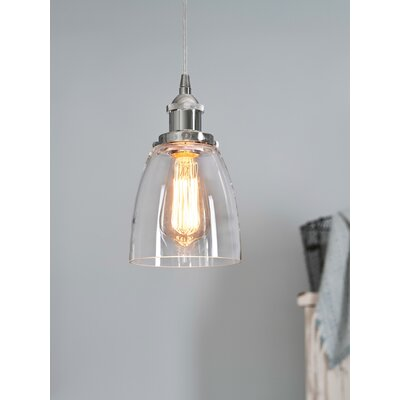 Maxim Glass 1-Light Mini Pendant Finish: Silver