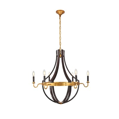 Karteek 6-Light LED Candle-Style Chandelier Size: 93 H x 31 W x 31 D