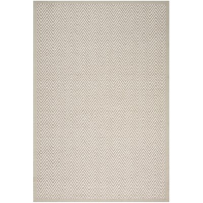 Uleena Hand-Woven Stone Area Rug Rug Size: Rectangle 5 x 76