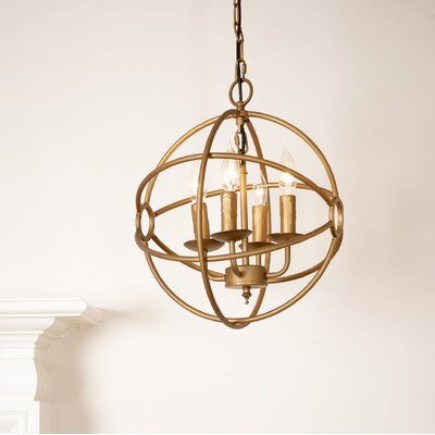 Maxey 4-Light Mini Chandelier Finish: Bronze