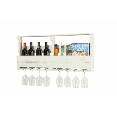 Layla Original Series 8 Bottle Wall Mounted Wine Rack Color: White