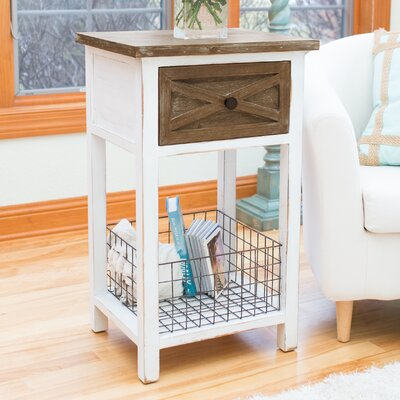 Farmhouse End Table with Storage