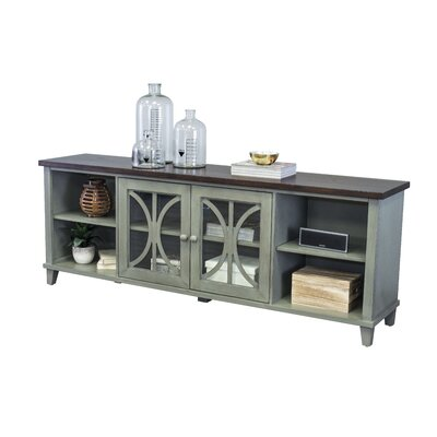 Peachstone 80 TV Stand Color: Weathered Green