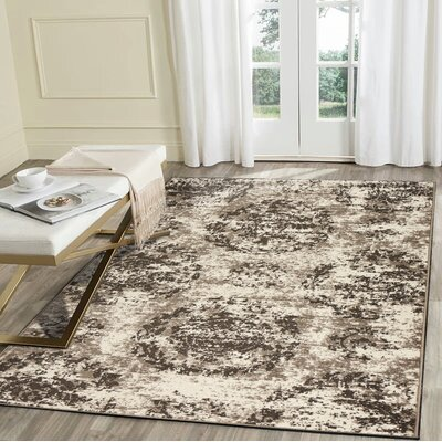 Luper Gray Area Rug Rug Size: Rectangle 79 x 95