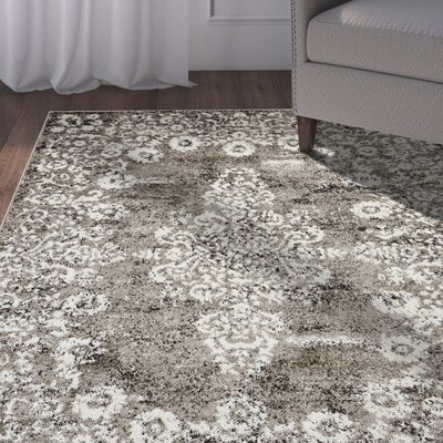 Pinson Taupe Area Rug Rug Size: Rectangle 52 x 72