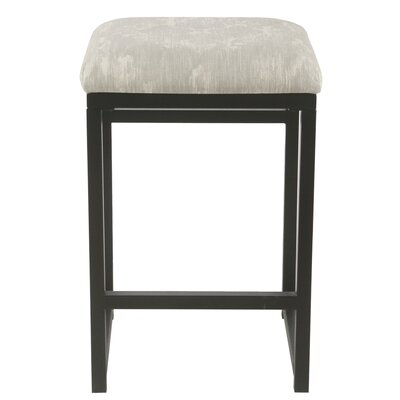 Ectasia 24 Bar Stool Color: Light Gray / Cream