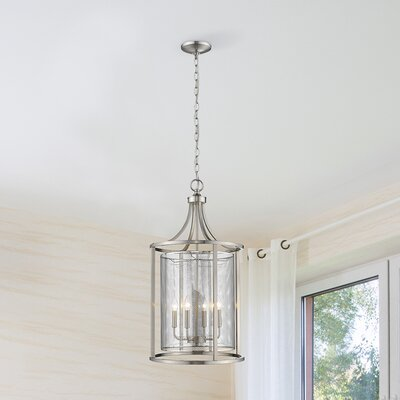 Weathers 4-Light Lantern Pendant Finish: Brushed Nickel