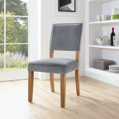 Trever Upholstered Dining Chair Upholstery: Gray