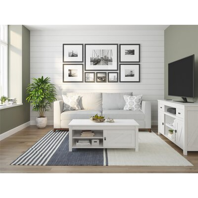 Cleveland 60 TV Stand Color: Ivory Oak