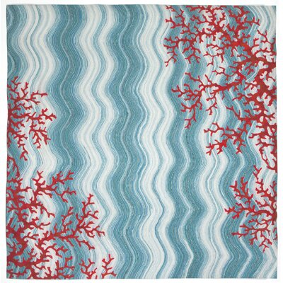 Visions IV Water Coral Reef Indoor/Outdoor Area Rug Rug Size: Square 8